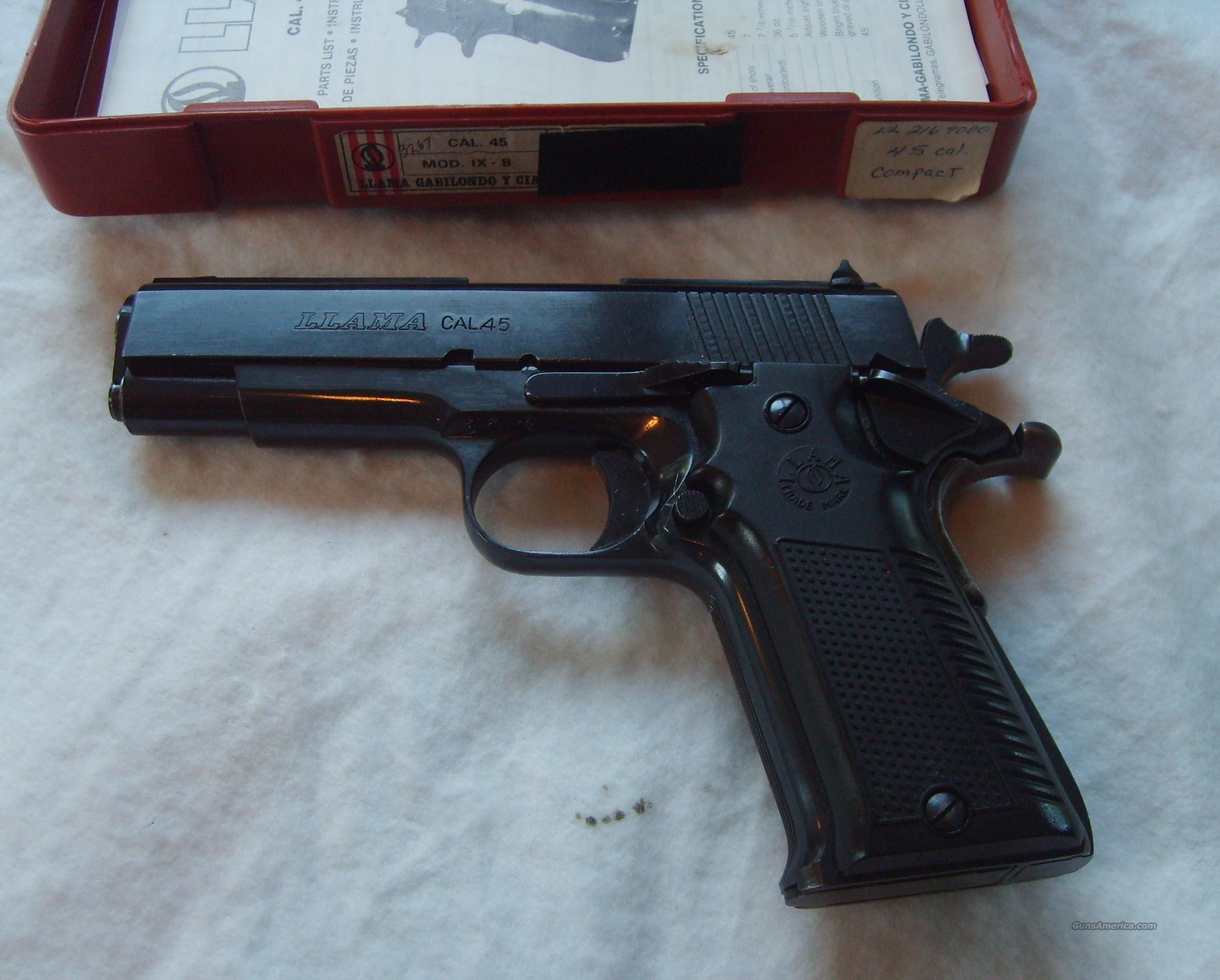 Llama .45 cal Compact Guns > Pistols > Llama Pistols