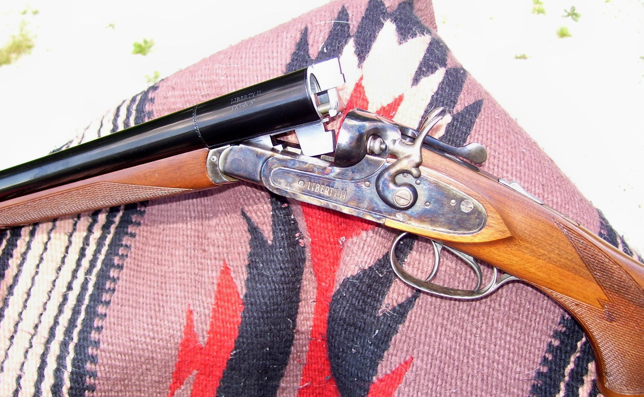 Liberty II (K.B.I.) Coach 12 ga shotgun, outside hammers, color case finish.  Guns > Shotguns > Cowboy Action Shotguns Misc.