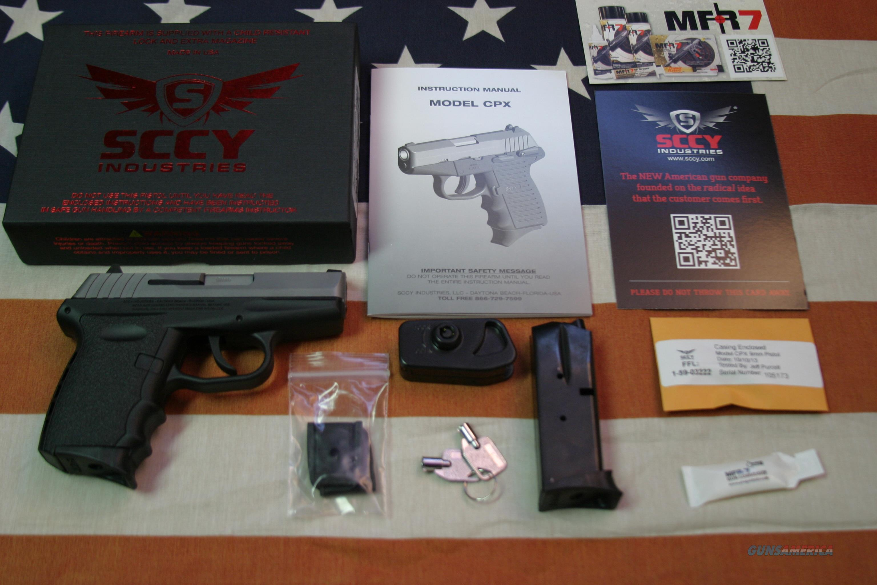 SCCY CPX2 Stainless Steel, 9mm, Brand New   Guns > Pistols > SCCY Pistols > CPX2