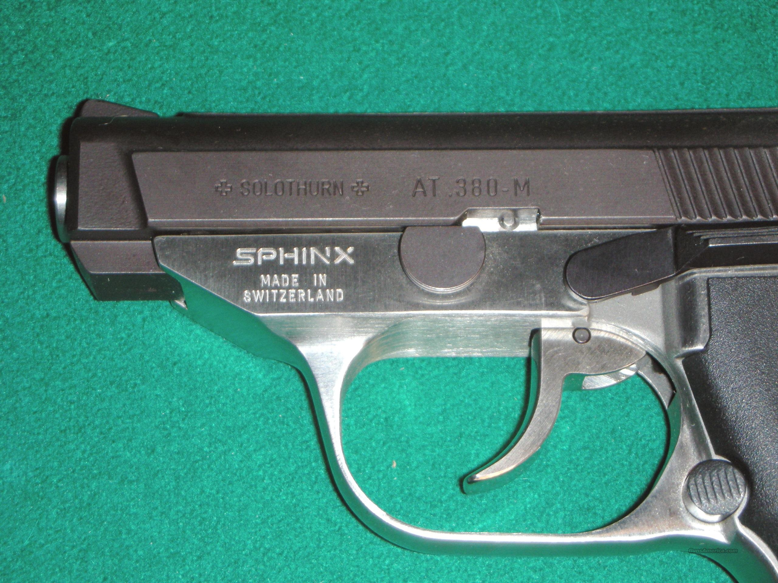 SPHINX AT .380-M / SEMI AUTO PISTOL / SWISS QUALITY   Guns > Pistols > S Misc Pistols
