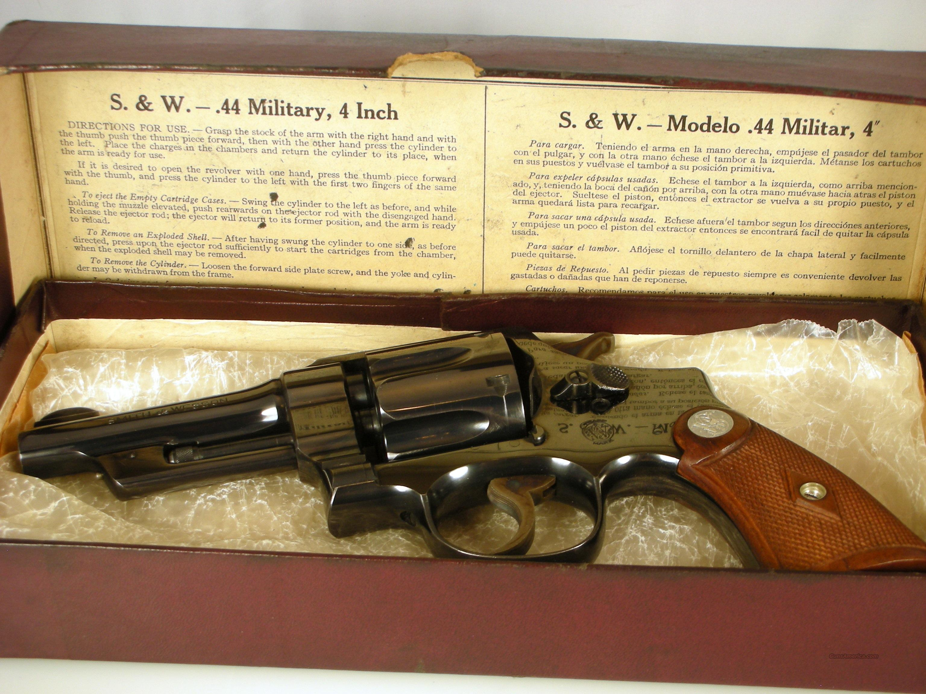 "S&W .44 Special Model 1926 / 4"" Barrel / Box / 99.5%  Guns > Pistols > Smith & Wesson Revolvers > Pre-1945"