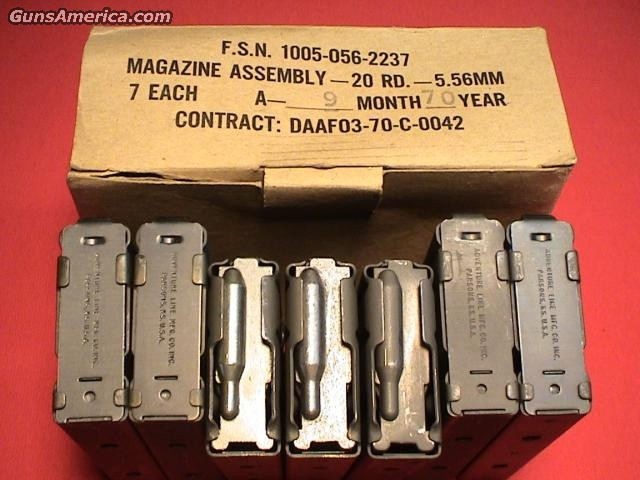 USGI AR-15 20RDS-BOX OF 7 MAGS  Non-Guns > Magazines & Clips