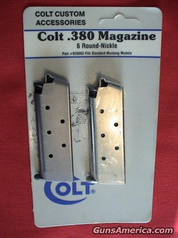 COLT .380 MUSTANG FACTORY MAG  Non-Guns > Magazines & Clips