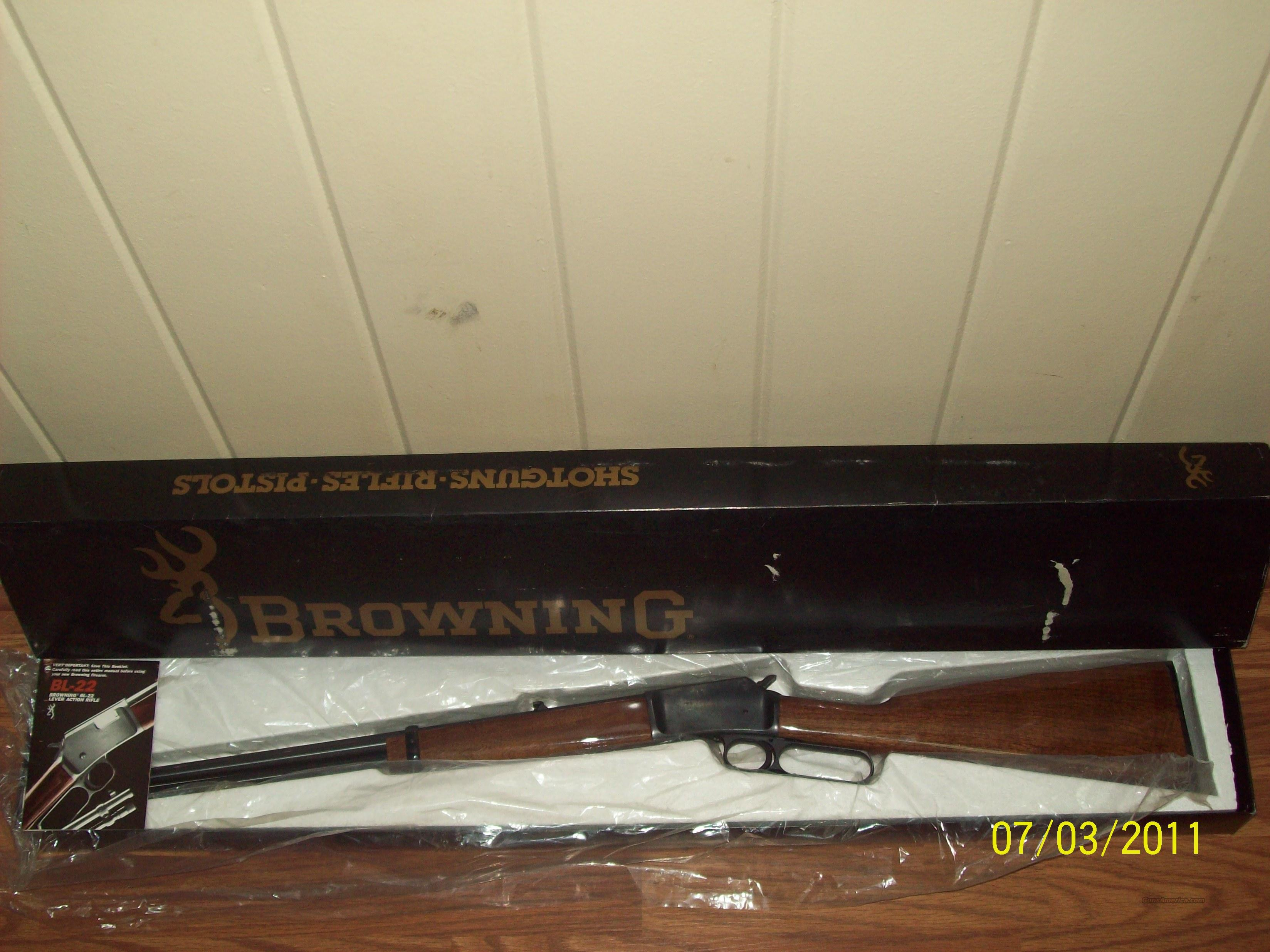 Browning BL-22 Lever Action Rifle  Guns > Rifles > Browning Rifles > Lever Action
