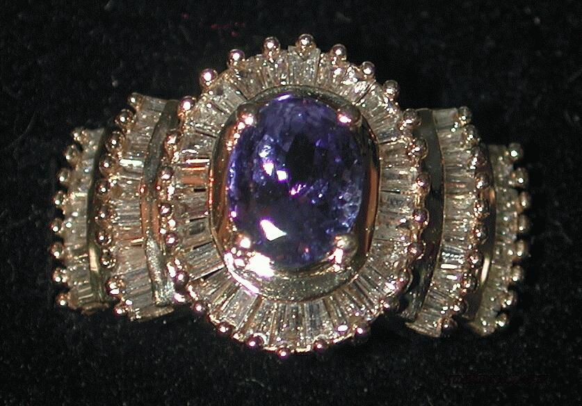 DIAMONDS and TANZANITE RING IN 14K GOLD -  FREE SHIPPING!!  Non-Guns > Miscellaneous