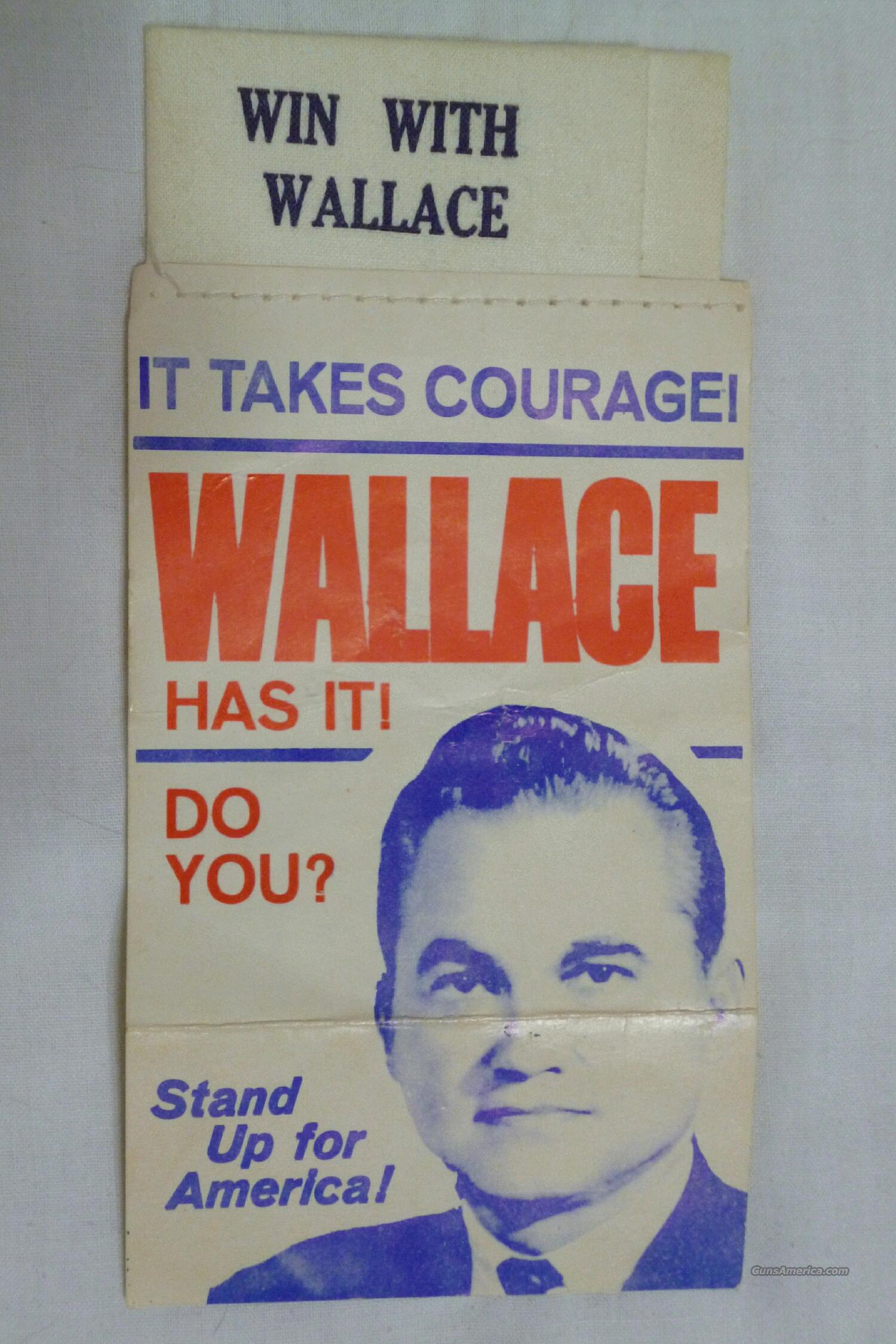"GEORGE WALLACE 1968 ""WIN WITH WALLACE"" POCKET SQUARE - FREE SHIPPING!  Non-Guns > Miscellaneous"