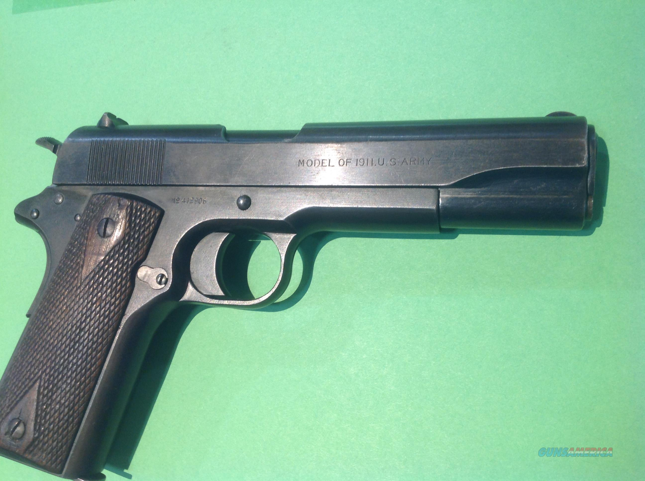 Colt 1911 U.S. Army with Savage Slide. Mfg.  1918  Guns > Pistols > Colt Automatic Pistols (1911 & Var)