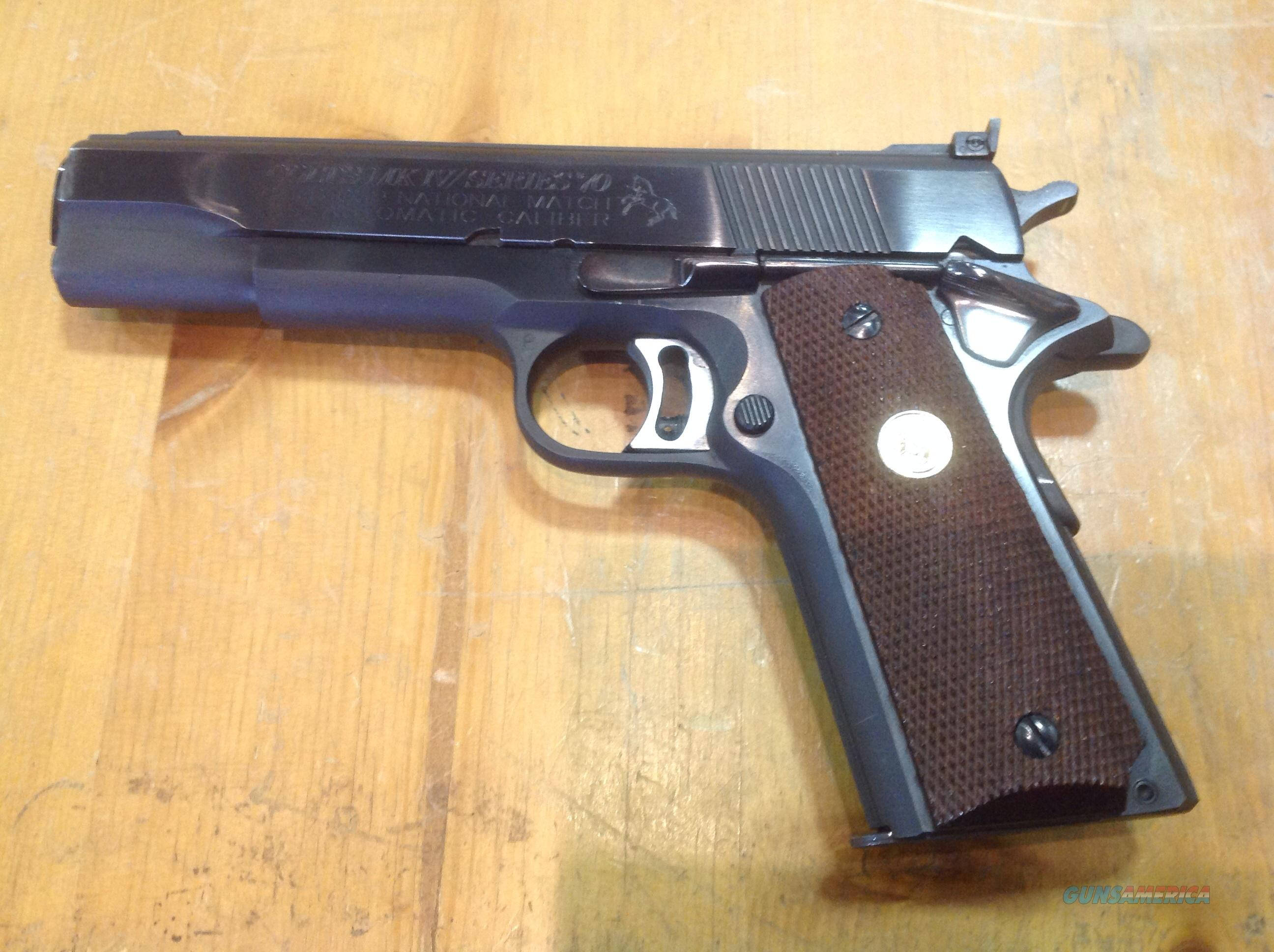 COLT 70 SERIES 1911 GOLD CUP NATIONAL MATCH  Guns > Pistols > Colt Automatic Pistols (1911 & Var)