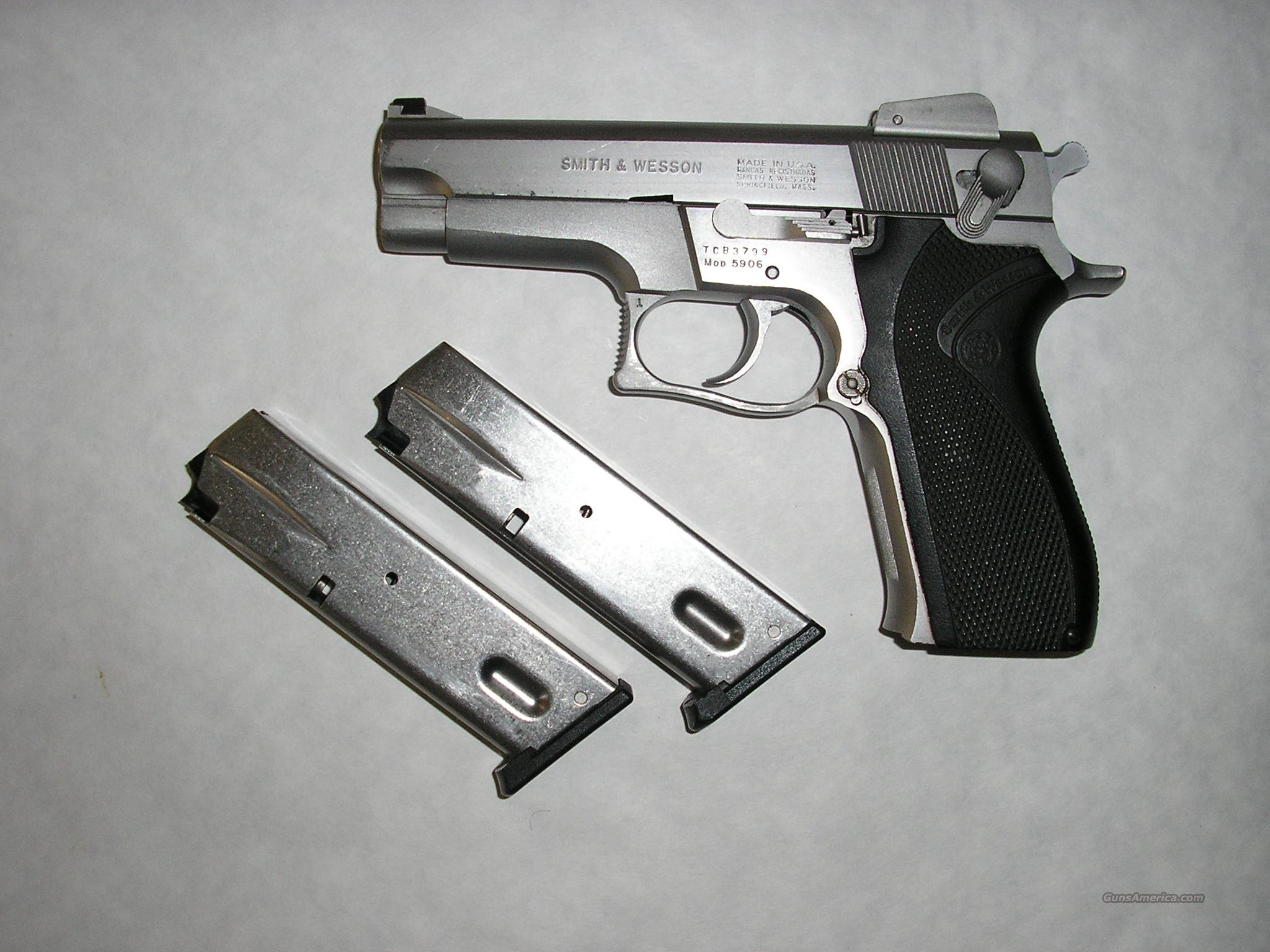 SMITH & WESSON 9MM STAINLESS 5906  Guns > Pistols > Smith & Wesson Pistols - Autos > Alloy Frame